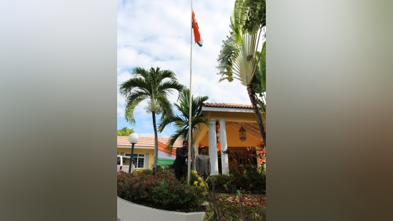 71st Republic Day celebrations at High Commission of India, Kingston (January 26, 2020): High Commissioner Shri M. Sevala Naik unfurled the National Flag & read President of India's message on the occasion of 71st Republic Day celebrations.