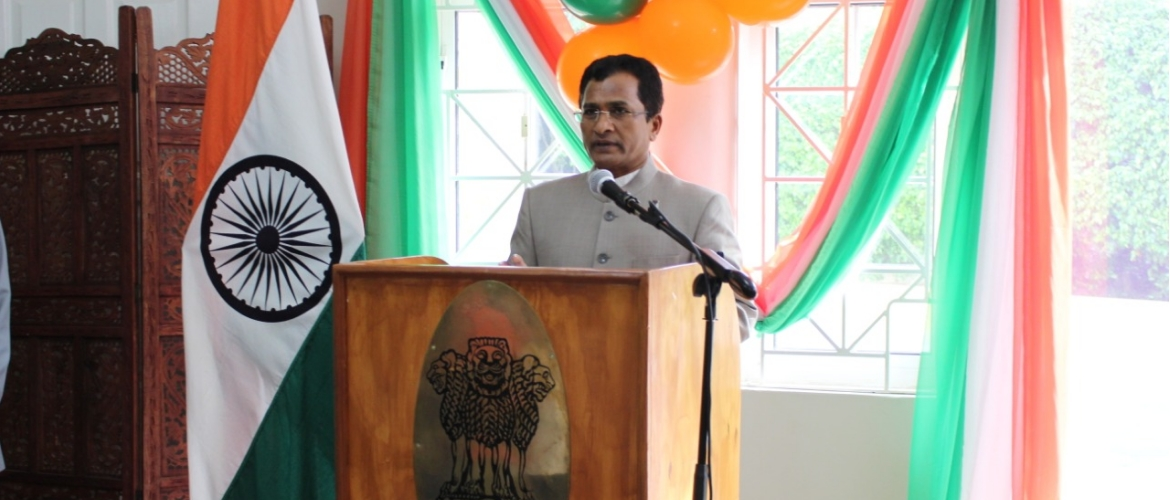 High Commissioner of India H.E. M. Sevala Naik read the President's address on the occasion of Republic Day of India (January 26, 2020)